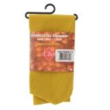 Chaussettes sans talon opaque t.u moutarde - 66