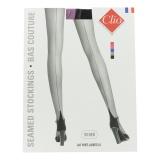 Bas couture bicolor porte jarretelle t3 noir/rose - 66