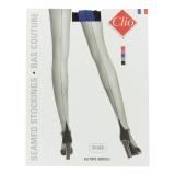 Bas couture bicolor porte jarretelle t4 noir/bleu - 66