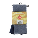 Collant doux 40d aspect chiné t1/2bleu - 66