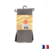 Collant doux 40d aspect chiné t3/4 marron - 66