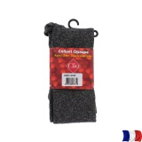 Collant opaque chiné t1/2 gris/noir - 66