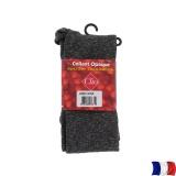 Collant opaque chiné t4 gris/noir - 66