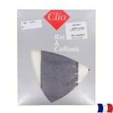 Collant aspect chiné t3/4 bleu - 66