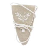 Étui à ciseaux fleur blanche lin/coton