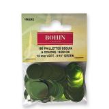 Sequin paillette 15mm vert s/suspx150 - 70