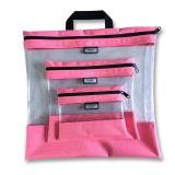 Pochettes transparentes gigognes rose x3 - 70