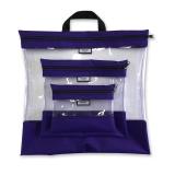 Pochettes transparentes gigognes violet x3 - 70