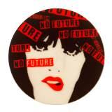 """Thermocollant """"Punk"""" - rouge / noir - 70"""