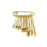 Épingle sûreté dorée -broche 12 - 70
