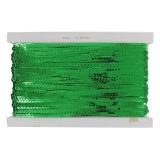 Galon paillette 6mm (23m) métal vert - 70