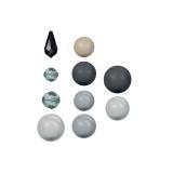 Perle Swarovski x5- mix 7-16mm blk pearl - 17 - 72