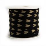 Ruban lin coton coeur 11 mm - 77