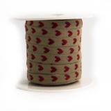 Ruban lin coton 8 mm petit coeur - 77
