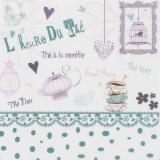 """Coupon """"l'heure du thé"""" bleu vert métis blanc - 77"""