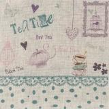 """Coupon """"teatime"""" bleu vert métis naturel - 77"""