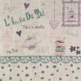 """Coupon """"l'heure du thé"""" bleu vert métis naturel - 77"""