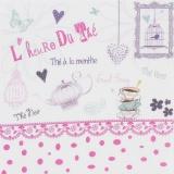 "Coupon ""l'heure du thé"" rose métis blanc - 77"