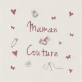 """6 coupons """"maman couture"""" rose sur métis nat. - 77"""