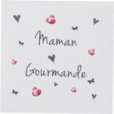 """6 coupons """"maman gourmande"""" gris sur métis nat. - 77"""