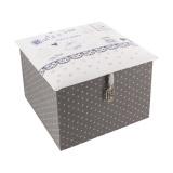 "Kit cartonnage ""boîte à thé"" rose - 77"