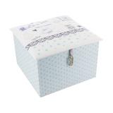 "Kit cartonnage ""boîte à thé"" bleu - 77"