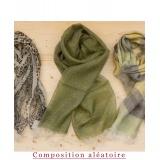 Assortiment de 3 foulards nuance kaki - 80