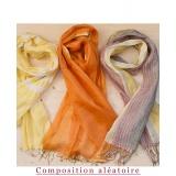 Assortiment de 3 foulards nuance jaune - 80