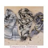Assortiment de 3 foulards nuance gris - 80