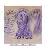 Assortiment de 3 foulards nuance violet - 80
