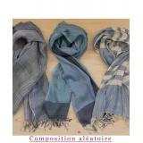Assortiment de 3 foulards nuance jeans - 80