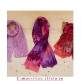 Assortiment de 3 foulards nuance rose - 80