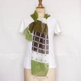 Etole coton lin 45/180 vert - 80