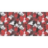 Echarpe voile froisé 35x160 rouge - 80