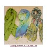 Assortiment de 3 foulards nuance vert - 80