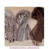 Assortiment de 3 foulards nuance marron - 80