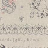 Tissu 45% coton 55% lin motif pdt Yuwa 6m - 82