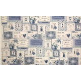 Tissu 100% coton motif étiquettes Yuwa 6m - 82