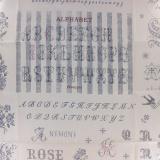 Tissu Yuwa 100% coton motif point de croix 3m - 82