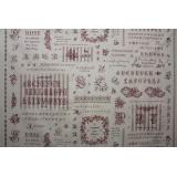 Tissu 100% coton motif point de croix Yuwa - 82