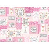 Tissu Yuwa 100% coton motif couture 3m - 82