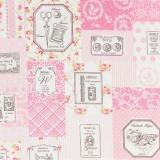 Tissu 100% coton motif couture Yuwa 6m - 82
