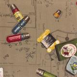 Tissu 100% coton motif carte à fils Yuwa 6m - 82