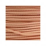 Cordon rond élastique 3mm saumon