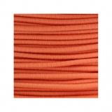 Cordon rond élastique 3mm orange