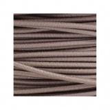 Cordon rond élastique 3mm sable