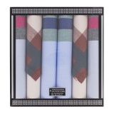 Mouchoir H Hervé 40 x 40 cm - Boîte de 6 mouchoirs