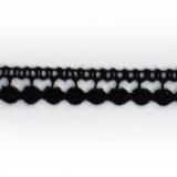 Dentelle 100% coton noir - 0,8 cm