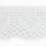 Dentelle 100 % coton blanc - 5 cm
