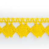 Dentelle 100% coton jaune - 2,2 cm